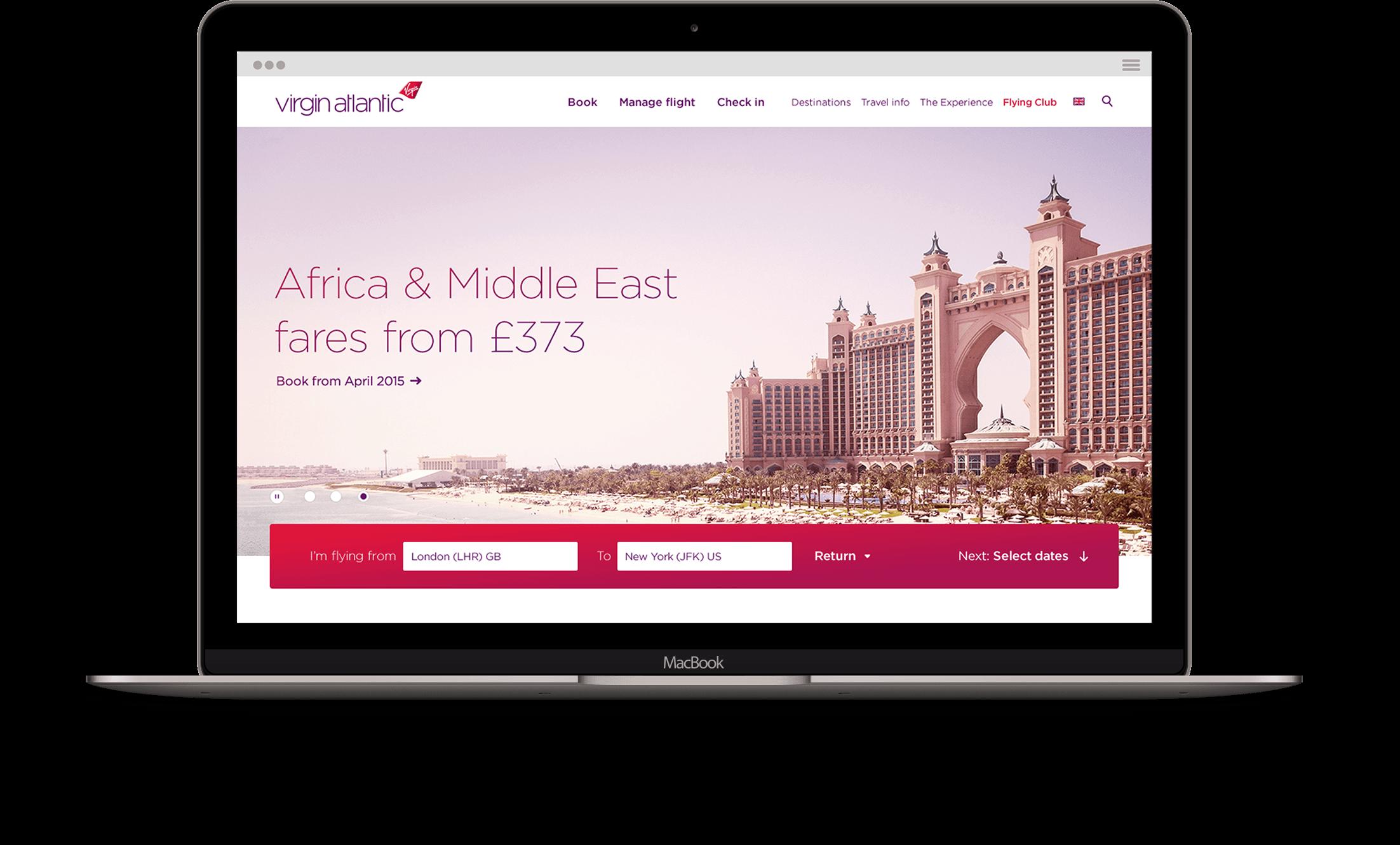 Homepage visual design